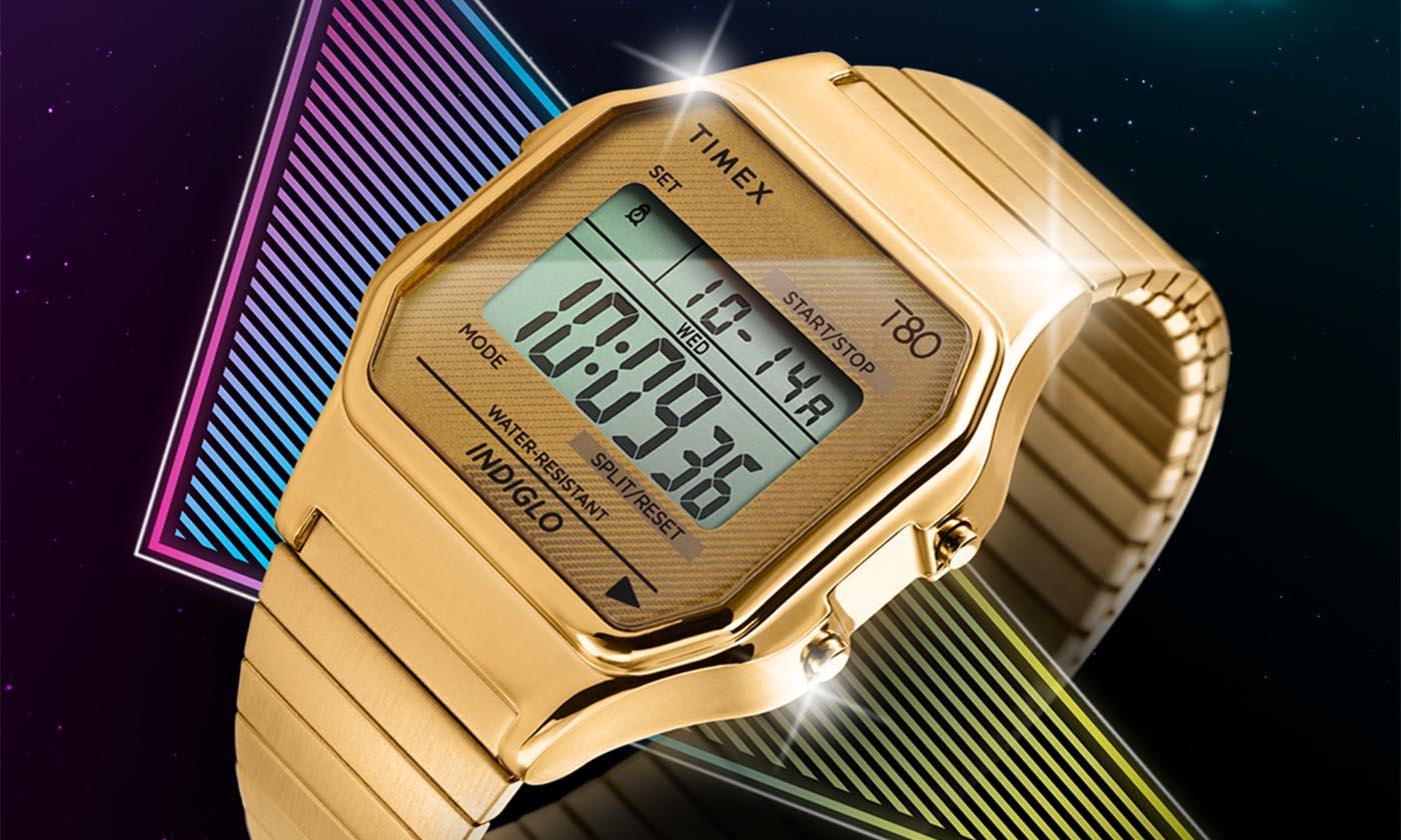 タイメックスが、 80年代デザインが特徴のデジタルウォッチ『タイメックス 80』を本日よりAmazonにて先行発売、7月上旬より一般発売