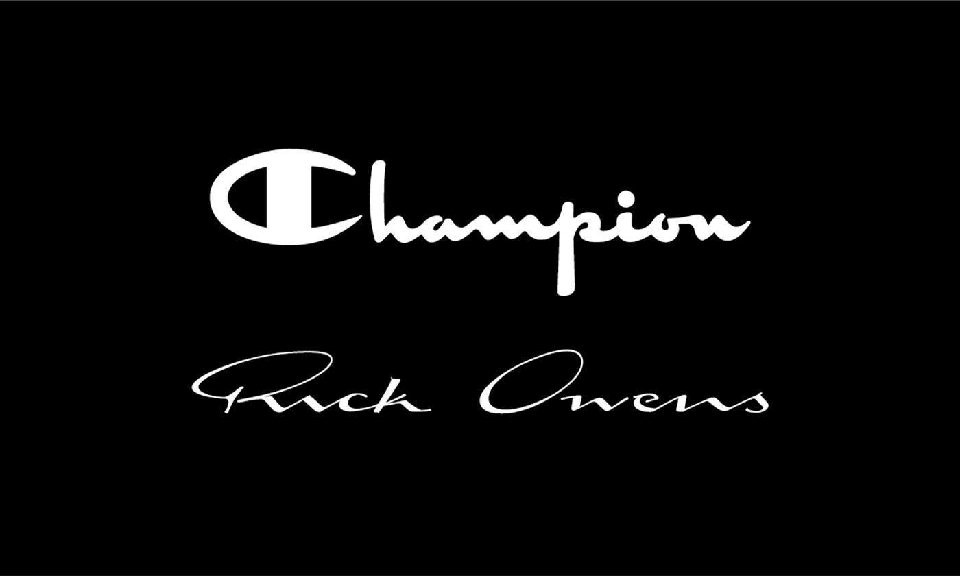 チャンピオン、世界的ファッションデザイナーRick Owensとのコラボ第二弾!