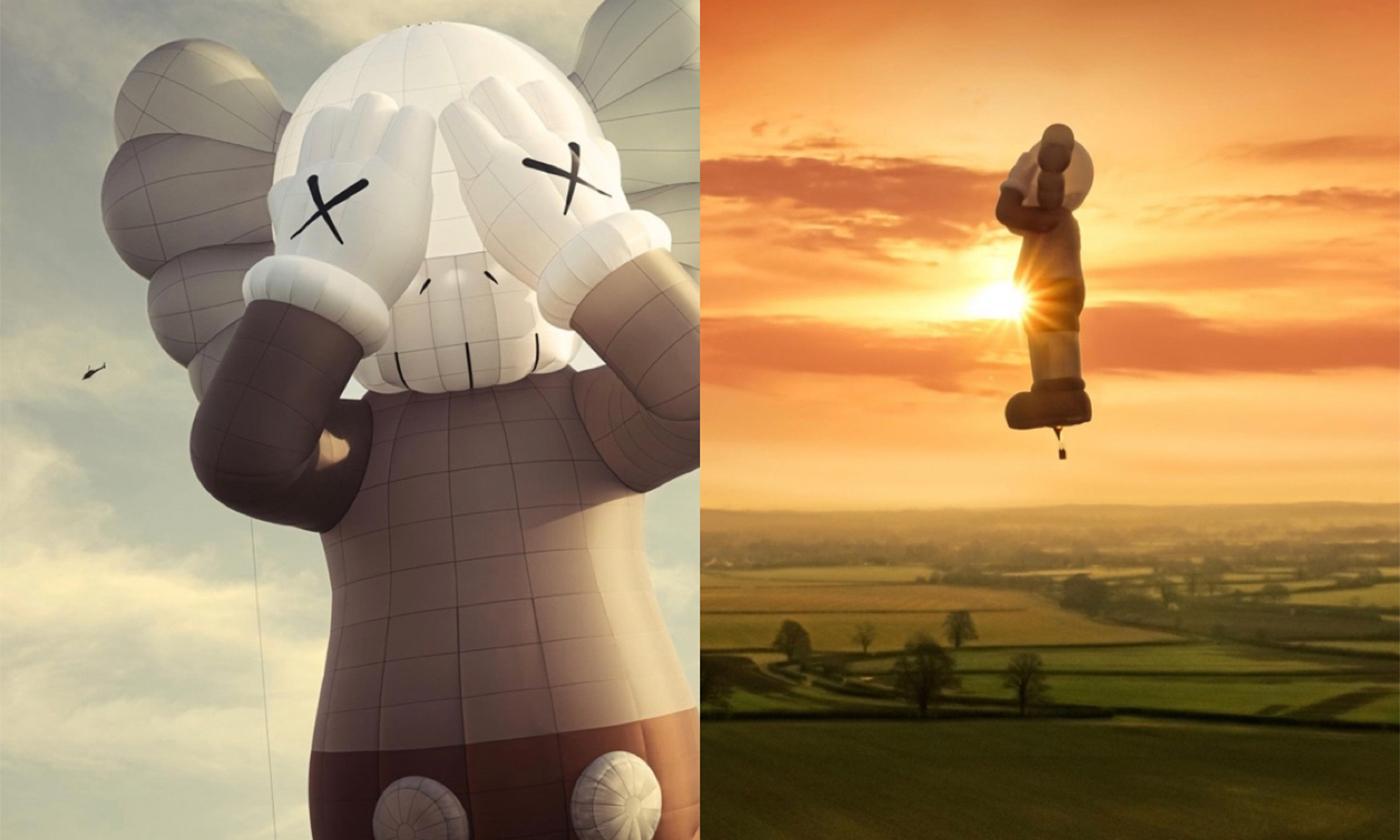KAWSのアートプロジェクト!世界最大級の熱気球で初飛行。記念アイテムも