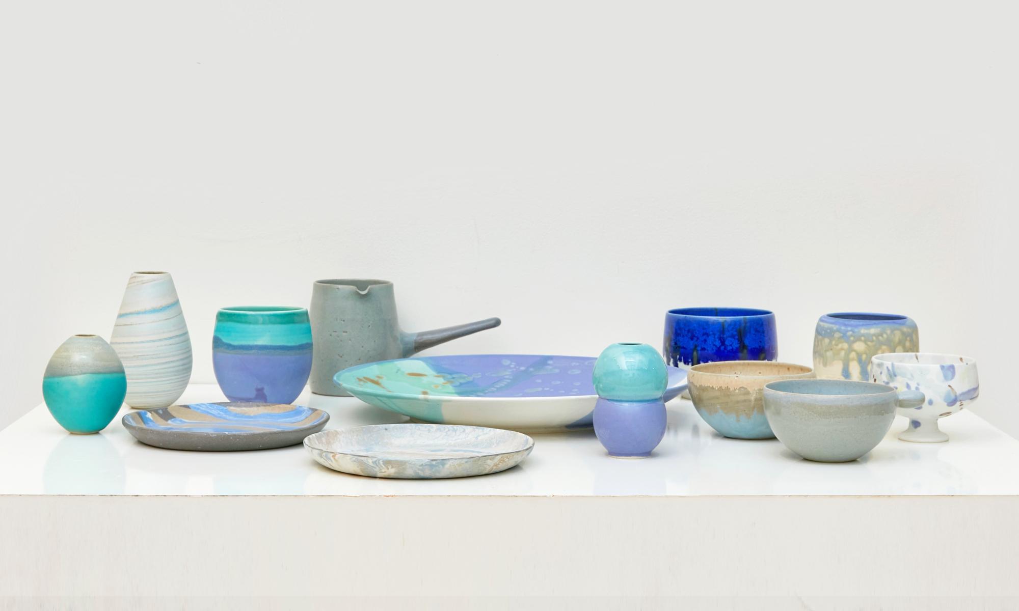 ギャルリー・ヴィー 自由が丘店にて陶芸作家・竹村良訓氏による「 Takemura Yoshinori -collection blue- 」を開催